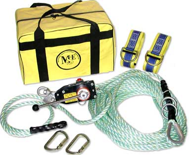 Temporary Horizontal Rope Lifeline System Kit